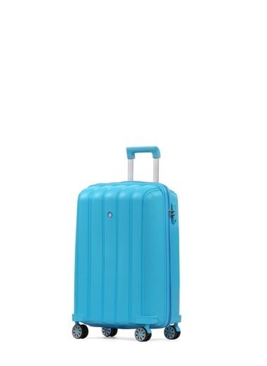 Cengiz Pakel Policarbon Valiz Kabin Boy-20305-K-A.Mavi Mavi